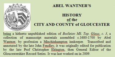 Abel Wantner's History